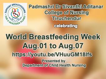 World Breastfeeding Week: Aug.1-Aug.7